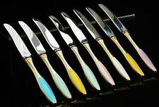 Set of 8 Danish Silver Enamel Butter Knives c.1930's