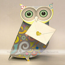 """3D Special Delivery Greeting Card - Owl """"Opal"""" - #SD-078"""