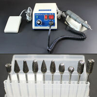 Dental Marathon Micromotor Polisher Machine 35K RPM Handpiece 10 Drill Burs 2.35