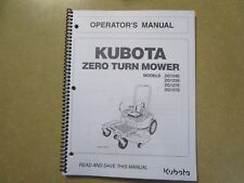 Kubota ZG124 ZG123 ZG127 ZG 124 123 127 E ZTR Mower owners & maintenance manual