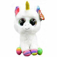 Ty 37157pixy Unicorn With Glitter Eyes Beanie Boos Plush Toy 24cm White