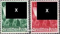 Deutsches Reich 632-633 (kompl.Ausg.) mit Falz 1936 Nürnberger Parteitag