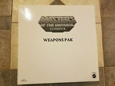 Masters of the Universe Classics Great Wars Weapons Pak - Matty Collector R5960