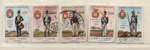 Kap Verde 1965 Uniformen MiNr.: 333-336; 338 gestempelt  Cabo Verde used