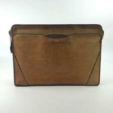 Lion Leather Products Brown Belting Leather Briefcase Attache Made USA Vintage