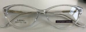 Clear Cateye Womens Frame Spring Hinges Oval Acetate Transparent Plastic Glasses