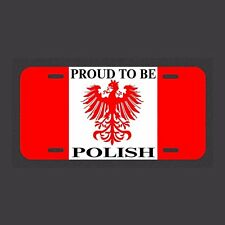 Proud To Be Polish  Made In The USA Metal New car tag club Polska