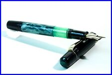 1956 PELIKAN 100N green special marble Pen with DEF Nib in 14K 585 Gold
