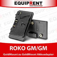 ROKO GM/GM Akkuadapter mit D-Tap für GoldMount/AntonBauer Akkusystem (EQ975)