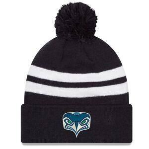Seattle Seahawks Pom Beanie Hat New Era Men's Black Blue White NFL Alt Logo New