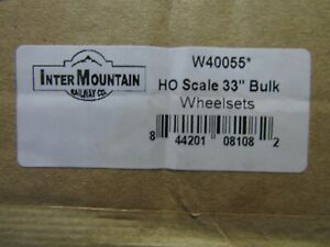 INTERMOUNTAIN 40055 HO 33 INCH INSULATED WHEELSETS 100PCS BRASS/ NICKEL PLATED