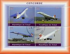 Chad 2018 CTO Concorde 4v M/S Airplanes Aviation Stamps