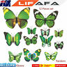 12X 3D Butterfly Fridge Magnets + Wall Stickers Set Kids Room Decor Wedding Gift