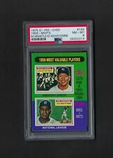 1975 O-Pee-Chee #194 MICKEY MANTLE / DON NEWCOMBE MVP PSA 8 NM-MT