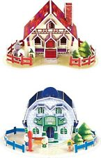 3D Puzzle Houses set of 4