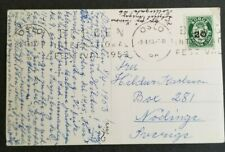 Norway, Norge 1953 PPC from Oslo to Sweden