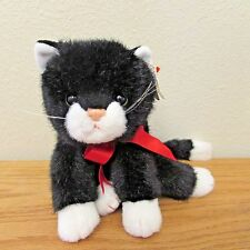 "Ty Classic Boots Black White Kitty Cat Plush Vintage 1997 10"" Toy W/ Hang Tag"