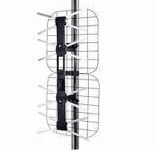 Outdoor Off-Air 75 Ohm Digital HD-TV Antenna for UHF VHF HDTV 80 Mile Long Range