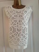 BNWT NEXT Ecru Rope Crochet Front Top Size M Medium RRP £45