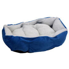 Soft Fleece Puppy Pets Dog Cat Bed House Basket With Mat waterproof S2L7