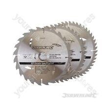 Hojas De Sierra Circular TCT 24, 40, 48 T 3pk - 210 X 30 Anillos - 25, 16 mm