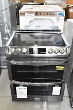 """New listing Lg Lte4815Bd 30"""" Black Stainless Slide In Double Oven Electric Range Nob #111561"""