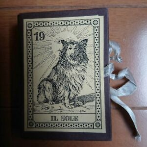 World dog Tarot world limited 2000 deck 1991 with serial number Japan used EMS