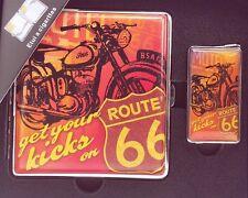 Zigarettenetui + Feuerzeug ROUTE 66 Leder-Look NEU+OVP by CHAMP #3