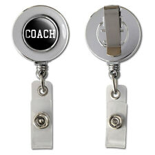 Coach - Team Sport Retractable Reel Chrome Badge ID Card Holder