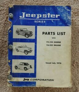 ORIGINAL 1966-70 C101 KAISER JEEP JEEPSTER PARTS CATALOG MANUAL 4 & 6 CYL ENGINE