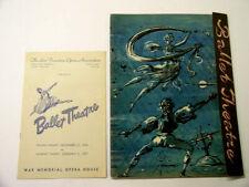 Rare 1946-47 Ballet Theatre Programs San Francisco Opera Assn. Cecil Beaton