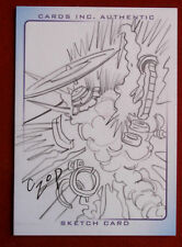 THUNDERBIRDS ARE GO! (2004 Movie) - Scarce PENCIL Sketch - EXPLOSION - JOHN CZOP