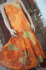 YESSICA * Kleid * Volant * Orange * Hippie Ibiza * Sommer * Trägerkleid * Gr 38