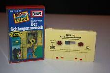 TKKG 14 Der Schlangenmensch gelb/gelber Aufkleber MC Kassette selten HÖRSPIEL