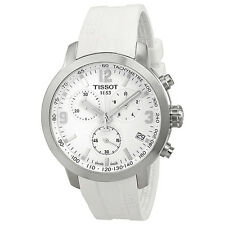 Tissot PRC 200 Chronograph White Dial White Rubber Mens Watch T0554171701700