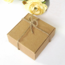 80x Kraft Boxes Gift Paper Boxes Birthday Party Wedding Favour Bomboniere Boxes
