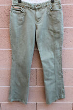 TOMMY HILFIGER JEANS Cargo Pants SOLID GREEN  Size 13 Women's