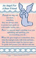 WALLET CARD AN ANGEL FOR A DEAR FRIEND Keepsake Sentimental Verse Present Gift