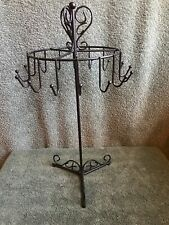 Black 16 Hook Counter Spinner Display for hanging Items. Keys/ Jewelry. 15� Tall
