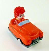 Ronald McDonald in Orange / Red Car 2011 McDonalds Happy Meal Toy - RARE