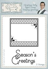 Phil Martin Rubber Stamps - Christmas Holly Insert Frame - Season's Greetings