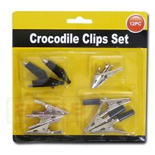 2 Pack. (12pc) Strong Spring Crocodile Clips Set (Comes in Assorted Sizes)