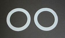 "Silicone Washer (lot of 2) for 1 1/4"" Bulkhead Fitting,  3"" od x 2"" id"