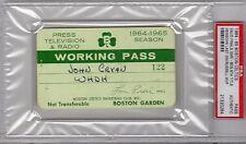 1964-1965 Boston Celtics PSA Ticket Pass 8 Title GM 5/Heinsohn Last/Russell MVP