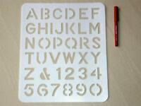 """Radiant Lettering stencil Guide tracing guide 40mm ( 1-1/2"""" ) letter stencil"""