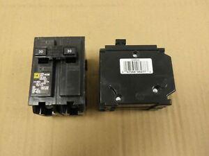 "New Take Out Square D HOM230 2 Pole 30 Amp 240V Yellow Circuit Breaker ""AK"""
