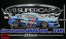 Scott McLaughlin sticker Give it some Jandal and .... YEAH V8 Supercars Volvo