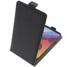 Funda para LG Q6 / G6 Mini protectora Teléfono Móvil con tapa NEGRA