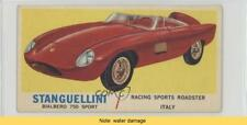 1961 Topps Sports Cars 35.1 Stanguellini Bialbero 750 Sport (Gray Back) READ 0s4