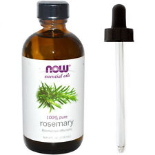 Rosemary Oil (100% Pure), 4 oz Plus Glass Dropper - NOW Foods Essential Oils